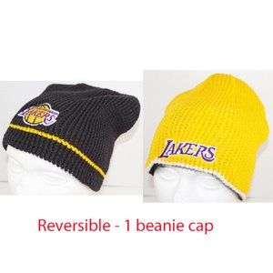 LA LAKERS NBA BASKETBALL BEANIE CAP HAT